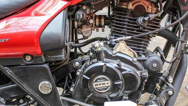 Side shot of bikes engine